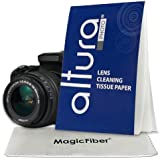 (750 Sheets / 15 Booklets) - Altura Photo Lens Cleaning Tissue Paper + MagicFiber Microfiber Cleaning Cloth