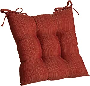 Arlee Madison Tie Back Chair Pad, Barn Red