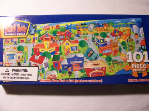 Mini Town 101 Piece Panoramic Puzzle