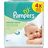Pampers Natural Clean Wipes, 256 Wipes