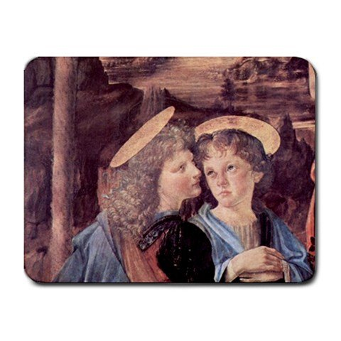 The Baptism Of Christ Detail By Leonardo Da Vinci Mouse Pad front-859829