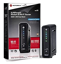 ARRIS SURFboard SBG6580 DOCSIS 3.0 Cable Modem/ Wi-Fi N Router - Retail Packaging - Black
