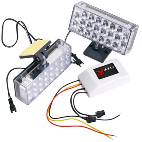 Set Car 22 LED White Strobe Emergency Flashing Light