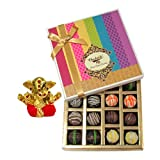 Chocholik Belgium Chocolates - Signature Collection Of Truffles Gift Box With Small Ganesha Idol - Gifts For Diwali