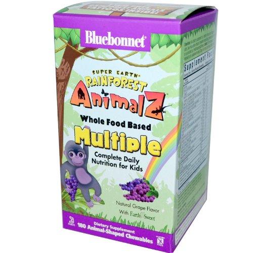 Super Earth Rainforest Animalz Whole Food Based Multiple Grape Bluebonnet 180 Ch
