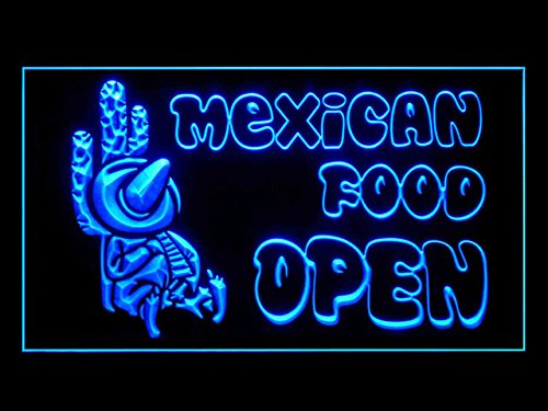 Mexican Food Snacks Restaurant Open Cafe Led Light Sign (Mexican Restaurant Lights compare prices)