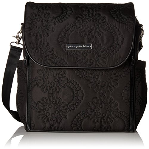 Petunia Pickle Bottom Boxy Backpack in Central Park North Stop, Black - 1