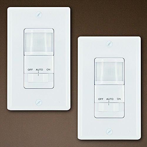 GE 2-Pack Motion Sensor On/Off Light Switch Timer, White (Sensor Timer Switch compare prices)