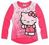 Camiseta de manga larga para niño, diseño de niña 'We love 'Hello kitty, color rosa oscuro, de 3 a 8 meses Rosa rosa