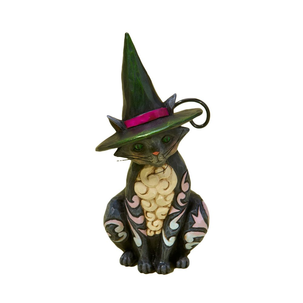 Jim Shore Heartwood Creek from Enesco Halloween Cat Mini Figurine 3.875 IN