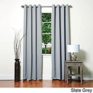 Thermal blackout curtains these fashionable 84 inch draperies are floor length - Epic window treatment decoration with slate blue curtain ...