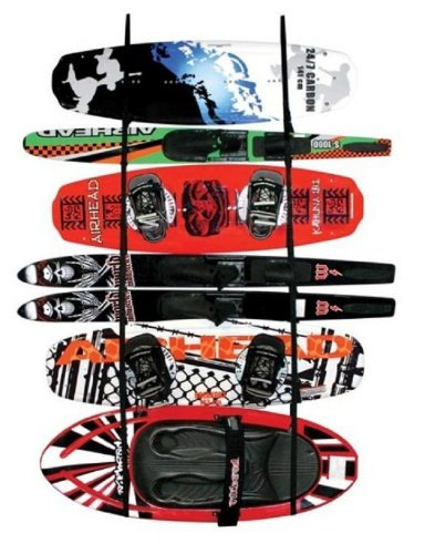Airhead Garage Storage Ladder Rack for Water Sports Equipment. Skis, Surfboards, Waterboads, etc. SBT-LR100-00-09