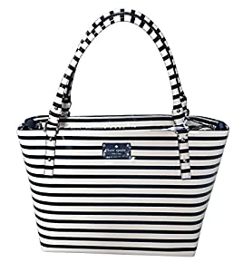 Kate Spade Flicker Sophie Baby Bag Tote WKRU2211 - Black / Cream Stripe with Pacifier Case and Changing Pad from Kate Spade