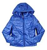 G2 Chic Women's Faux Fur Hooded Quilted Polyfill Bomber Down Jacket