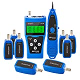 Noyafa PP1888 NF-388 FOME Multipurpose Network Cable Tester Tracker with 8 Far-End Jacks for Test Ethernet LAN Phone Wire USB Coaxial (Blue)+ FOME Gift (Color: Blue with 8 remotes)