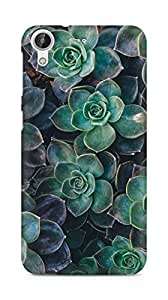 Amez designer printed 3d premium high quality back case cover for HTC Desire 626 G (flowers green)