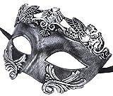 Retro Masquerade máscara Halloween Party Gladiador romano máscara Facial, multicolor negro / plateado