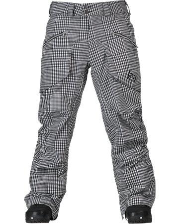 Herren Snowboard Hose Burton AK 3L Hover Pant Yarn Dye true black gingham XS