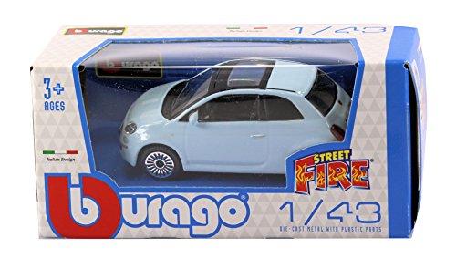 new-burago-1-43-diecast-model-car-fiat-500-3dr-in-light-blue-burago-street-fire-range