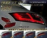 【期間限定セール】 アウディ AUDI TT クーペ 8J ファイバー LEDテールランプ TTS ロードスター RS レッドクリアー