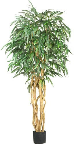 Nearly Natural 5213 Weeping Ficus Silk Tree, 6-Feet, Green by Nearly Natural