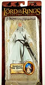 2003 - Toy Biz - Lord of the Rings - The Two Towers - Gandalf The White Action Figure - w/ Staff-Extending Action - RARE - Out of Production - Limited Edition - Collectible