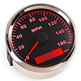 ELING MPH GPS Speedometer Odometer 160MPH With Backlight 85mm 12V/24V