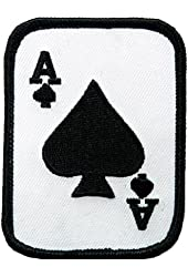 Ace of Spades Embroidered Patch Iron-On Poker Card Emblem