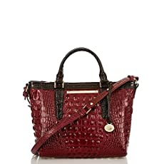 Mini Arno Tote<br>Carmine Red Tri-Color