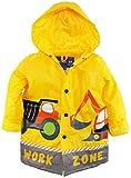 Wippette Little Boys' Toddler Waterproof Hooded Construction Raincoat Jacket