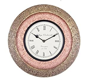 buy universal art traditional wall clock with brass and