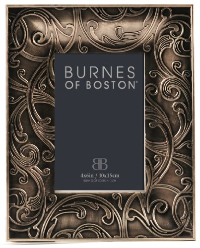 Burnes of Boston Simone Picture Frame, 4 by 6-Inch
