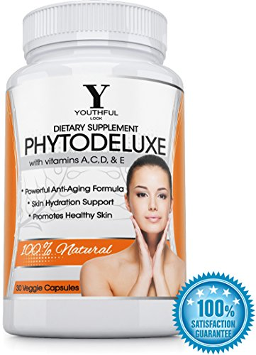 #1 Phytoceramides - Drop A Decade From Your Face With A Natural Facelift - 350 Mg Plant Derived Premium Quality Capsules - Skin Care Supplement With Vitamins A C D E - Therapeutic Antioxidant Nutritional Product - Compliments Facial Creams, Moisturizers,