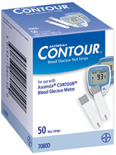 TEST STRIPS BLOOD GLUCOSEUSE W/9545 METERS 50/BX Bayer Healthcare LLC, Diabetes Care