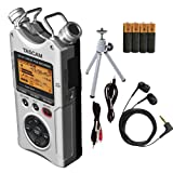 Tascam DR-40 Digital Audio Recorder Bundle (TADR40SKIT) (Color: Silver)