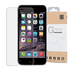 iPhone 6 Plus Screen Protector, iPhone 6S Plus Screen Protector HIPPOX [Tempered Glass] 0.2mm Ballistic Glass iPhone 6/6S Plus Glass Screen Protector Work with Protective Case