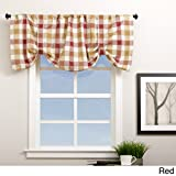 Metro Shop Plymouth Plaid 21-inch Valance with Button Straps