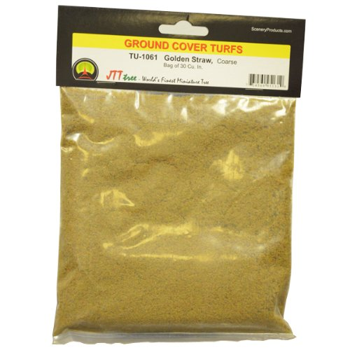 JTT Scenery Products Ground Cover Turf, Golden Straw, Coarse/30 Cubic Inch