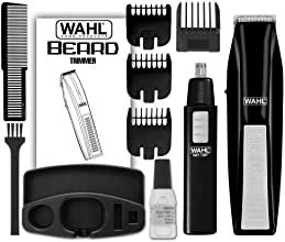 Wahl 5537-1801 Cordless Battery Operated Beard Trimmer with Bonus Ear, Nose and Brow Trimmer