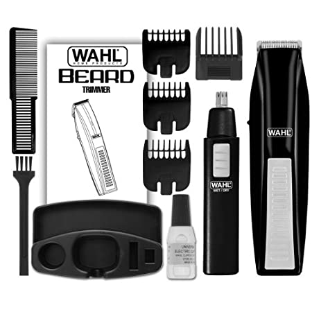 Wahl  Cordless battery operated Beard Trimmer with a Bonus Battery Ear, Nose brow TrimmerThe Wahl Beard Trimmer kit has everything you need to tighten up your beard, mustache, goatee, and neckline. With high-carbon steel blades that stay sharp, you'l...