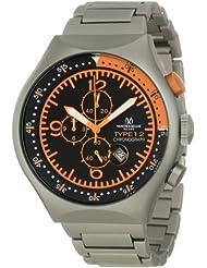 Montres De Luxe Men's 50 MM TP ORANGE 50-mm Aluminum Chronograph Watch
