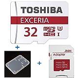 東芝 Toshiba 超高速U3 4K対応 microSDHC 32GB + SD アダプター + 保管用クリアケース [バルク品 ] [並行輸入品]