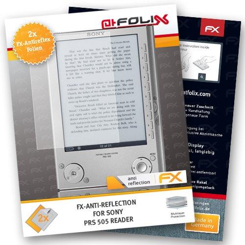 2 x atFoliX Schutzfolie Sony PRS 505 Reader - FX-Antireflex blendfrei