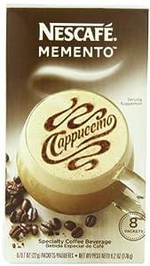 Nescafe Memento Coffee, Cappuccino, 8 - Count