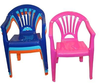 Kinder Stapelsessel Kinderstuhl Gartenstuhl Stuhl Kunststoff Rosa von DKB - Tools - Germany auf Gartenmöbel von Du und Dein Garten