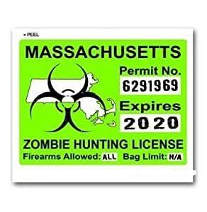 Massachusetts ma zombie hunting license permit for Fishing license ma