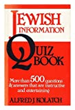 Jewish Information Quiz Book (082460248X) by Kolatch, Alfred J.