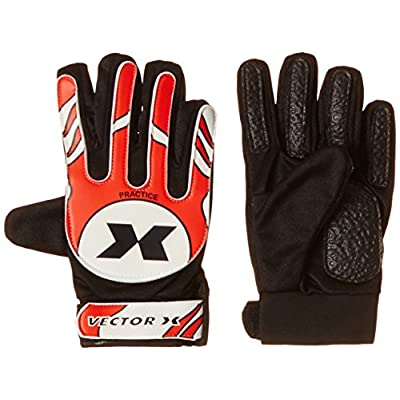 Vector X Practice Goal Keeping Gloves, 6 (Red/White/Black)