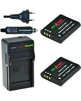 ChiliPower Olympus Li-90B, Li-92B Kit: 2x Batterie (1270mAh) + Chargeur pour Olympus SH-1, SH-50 iHS, SH-60, SP-100, SP-100EE, Tough TG-1 iHS, Tough TG-2 iHS, Tough TG-3, XZ-2 iHS