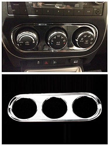 Nicebee 1pcs ABS Chrome Air Condition Adjust Accontrol Switch Garnish Panel Dashboard Molding Control Knob cover Trim for JEEP Compass 2011-2014 (2013 Jeep Dash Cover compare prices)